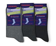 3 Paar Herren Diabetiker Socken Größe 39-46 Thermo Gesundheitssocken vollfrottee