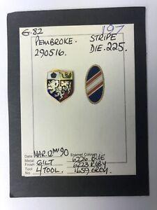 Vintage Pembroke College Oxford University Pin Prototype. Hand Painted. OOAK