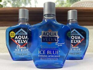 Aqua Velva Cooling After Shave Classic Ice Blue Firm & Tones, 7oz, 3 Pack