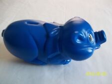 "Plastic Pig ""Piggy"" Bank, Blue"