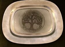 "High Point University ""Be Extraordinary"" Large Pewter/Armetale Platter Tray"
