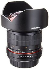 New Samyang 14mm F2.8 Super Wide Angle Lens for SLR & DSLR CAMERAS with Case