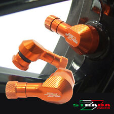 "Strada 7 83 Degree 11.3mm 0.445"" inch CNC Valve Stems Honda CBR300R 14-15 Orange"