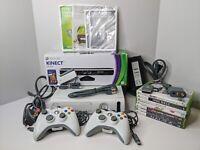 Xbox 360 Arcade 20GB Console Bundle w/ Kinect, 7 Games, 2 Controllers, Wifi