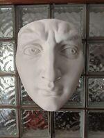 HUGE 60s Absurd Ultra Modernist Art Vintage Michaelangelo David Face Sculpture!