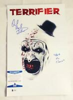 DAVID HOWARD THORNTON SIGNED 11x17 PHOTO ART THE CLOWN TERRIFIER BAS COA 305