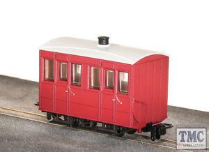 GR-500UR Peco OO9 Gauge Glyn Valley Tramway 4 Wheel Enclosed Side Coach Red