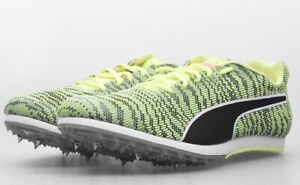 BNIB Boys Puma Evospeed Star Running Spikes Spiked Track Shoes Neon Black Sz 4