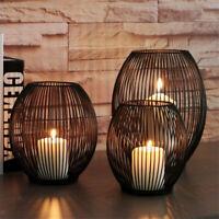 Iron Cage Candle Holder Metal Lantern Candlestick Wedding Centrepiece Home Decor