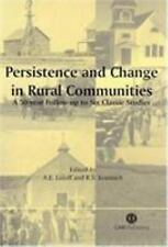 Persistence and Change in Rural Communities: A Fifty Year Follow-up to-ExLibrary