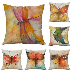 Retro butterfly pillow Case cover For Home Decor For Cotton Linen Printing