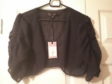 BRAND NEW with Tags Coast 'Kelly' Black Cover Up Bolero style size Small RRP £55