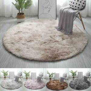 Multicolor Fluffy Soft Rug Circle Round Carpet Living Room Bedroom Floor Rugs