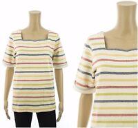 ex Seasalt Top Organic Cotton Striped Sweatshirt