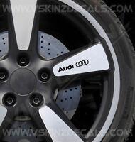 4x Audi Logo Premium Cast Wheel Decals Stickers TT RS Quattro A3 A4 S-line TFSI