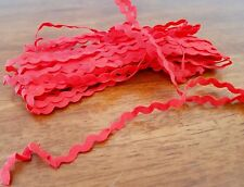 RED Zig Zag RIC RAC Polyester Craft Scrapbook TRIM 8mm SOLD BY THE METRE