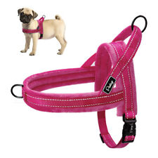 Reflective Dogs No Pull Harness Front Leading Fleece Walking Vest Hot Pink S M L