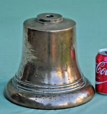 "Vintage Large 9½"" Cast Brass Bronze 18lbs Bell, Fire Engine, Ships, (No Clapper)"
