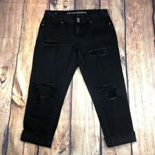Almost Famous Distressed Jeans Womens Size 9 Skinny Denim Jeans - Black -