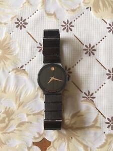Women's Movado Ceramic Black Dial Swiss Watch