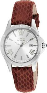 Invicta 14319 Swiss Angel Date Crystal Accented Bezel Red Strap Womens Watch