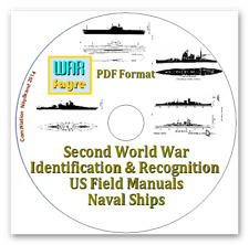 WW2 Identification & Recognition US Field Manuals PDF 2 Cds Aircraft/Tanks/Ships