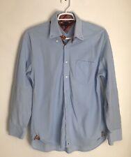 Tommy Hilfiger Mens XL Corduroy Shirt Light Blue Button Down Long Sleeve