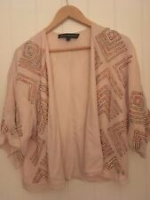 French Connection Pink Sequin Jacket Blazer Size 8