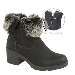 Boots Fleecy Lining Zip Snow Winter Ladies Gabriella Ankle Booties Womens Ladies