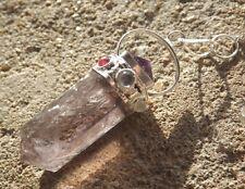Fluorite violette 7 chakra guérison radiesthésie pendule pendentif. amethyst pyramide top
