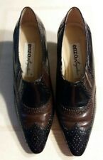 Women's Enzo Angiolini Two Toned Black/Brown Slip On Shoe - Size 7 1/2M