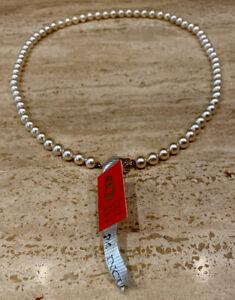 """Vintage New 24"""" Mallorca Pearl Necklace Tag Perlas De Mallorca Spain Jewelry"""