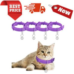 4Pieces Cat Calming Collars Adjustable Cat Pheromones Collars with Bells