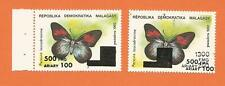MADAGASCAR  MADAGASKAR MALAGASY  surcharge overprint PAPILLON BUTTERFLY VLINDER