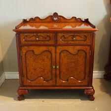 Beautiful Mahogany and Burl Night table hand carved