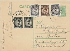 05.1934 Romania Multifranked PC King Michael DEVA to Germany Postcard