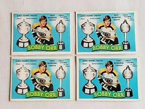 LOT OF 4 1971-72 O-PEE-CHEE OPC #245 BOBBY ORR BOSTON BRUINS NHL HOCKEY CARDS