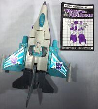 Vintage 1988 Transformers G1 Dreadwind
