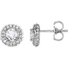 halo-style Orecchini di diamanti in 14k oro bianco (7/8 ct. TW