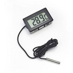 [JB] 6PCS Digital LCD Fish Tank Aquarium Thermometer With Waterproof Probe Black