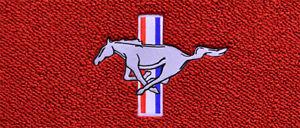 Pony/Tri-Bar Logo - Red Carpet Custom Floor Mats Fits 2005-2009 Ford Mustang !