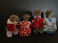 sylvanian families Otter Vandyke Family Vintage Rare 1990's