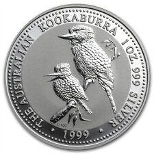 Perth Mint Australia $1 Dollar Kookaburra 1999 1 oz .999 Silver Coin