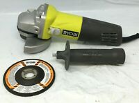 "Ryobi 4 1/2"" Barrel Grip Corded Angle Grinder AG4031G RR620"