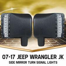 2PCS 27w Side Mirror LED Lights Turn Signal Offroad For 07-17 Jeep Wrangler JK