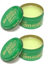 2 X Dax Wax Green and Gold 99g Tin