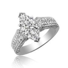 Ladies estate Design 2.00 Carat Marquise cut Diamond 18K Engagement Ring GIA