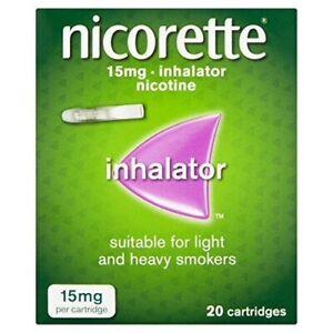 Nicorette Inhalator Nicotine 20 Cartridges 15mg (Bundle of 5 packs)