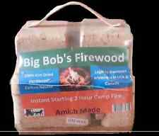 14 lbs Instant Start Firewood for Fireplace, Outdoor Fire Pit, Campfire Big Bobs