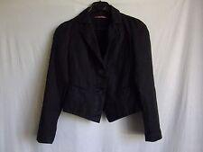 Veste tailleur lin coton noir comptoir des cotonniers lacet dos 34 TBE